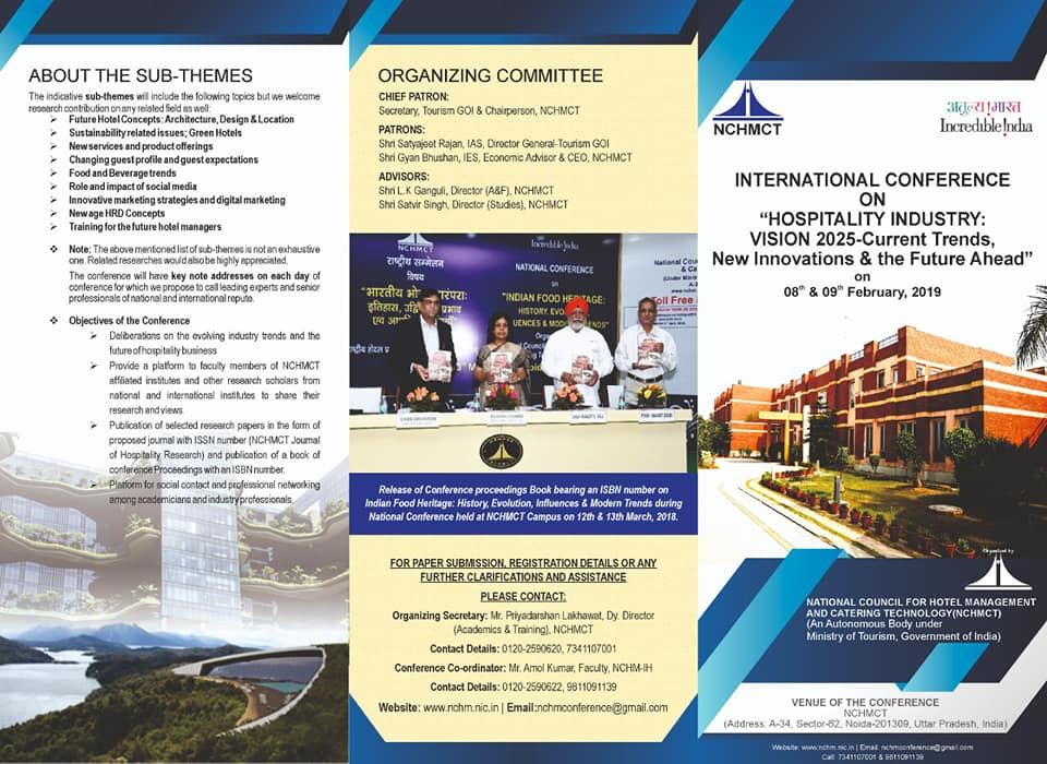 International Conference on – Hospitality Industry : Vision